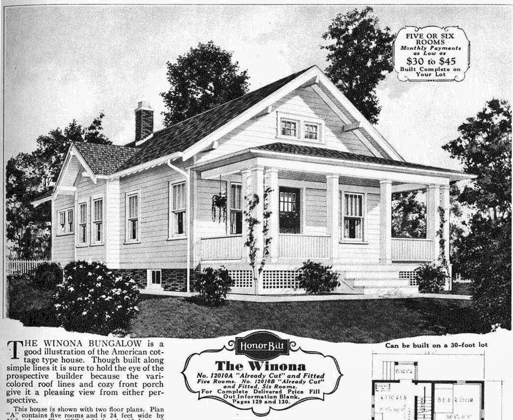 Real estate ad in 1930 newspaper