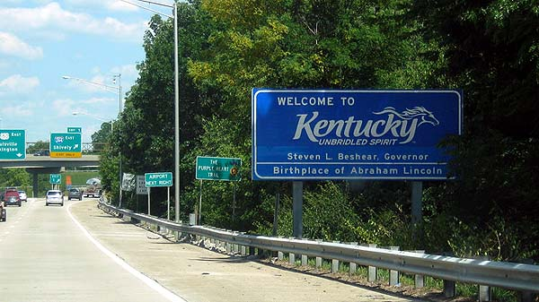 Photo of a Welcome to Kentucky sign | Kentucky Population Changes