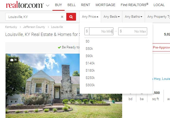 Screenshot of Realtor.com - Make your real estate listing stand out