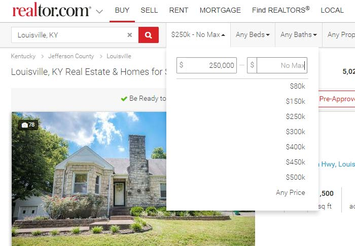 Screenshot of Realtor.com Price 2 - Make your real estate listing stand out