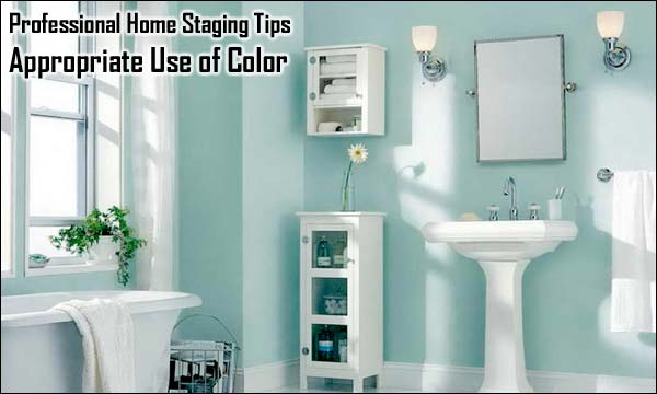 Professional Home Staging Tips: Appropriate Use of Color