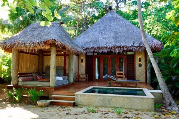 Photo of a modern house design of a hut