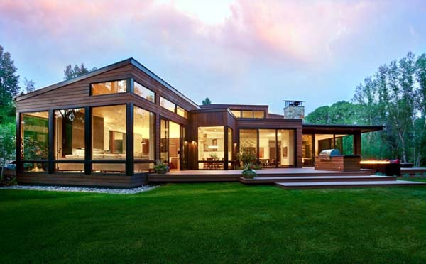 Photo of a modern house design called Woody Creek